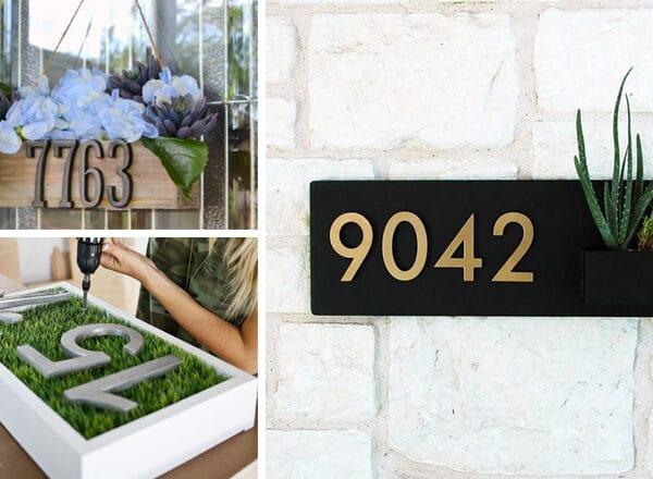 Stílusos házszámok az otthonodra + elkészítési útmutató