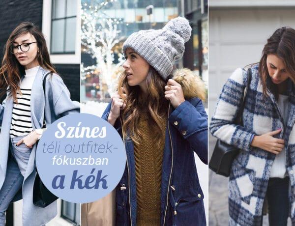Színes téli outfitek – fókuszban a kék