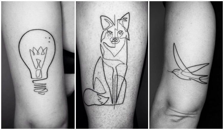 Vonalgrafikás tetoválások a minimalizmus szerelmeseinek