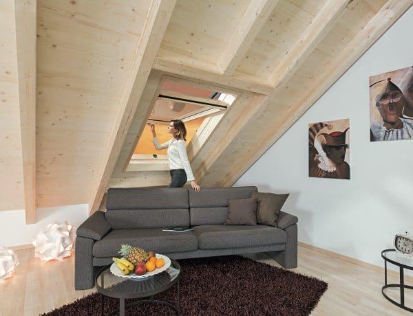 Funkcióhoz igazított tetőablak a környezettudatosság jegyében