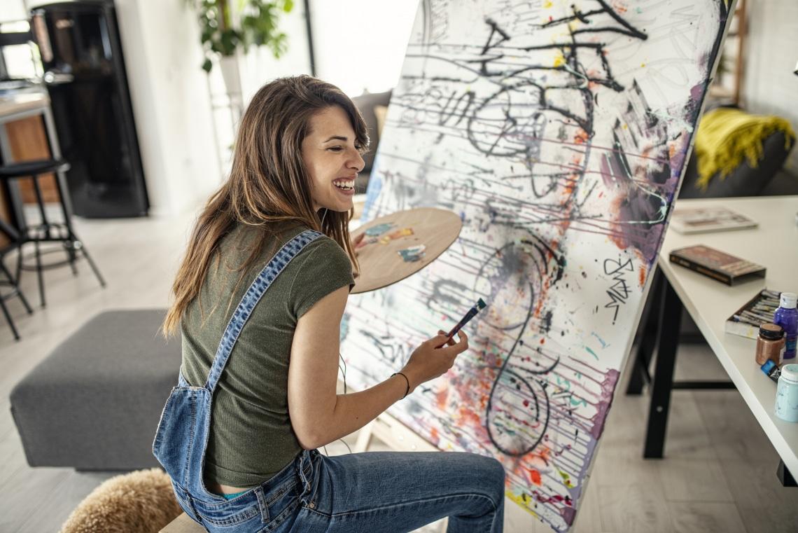 Ezeket a modern absztrakt festményeket te is elkészítheted