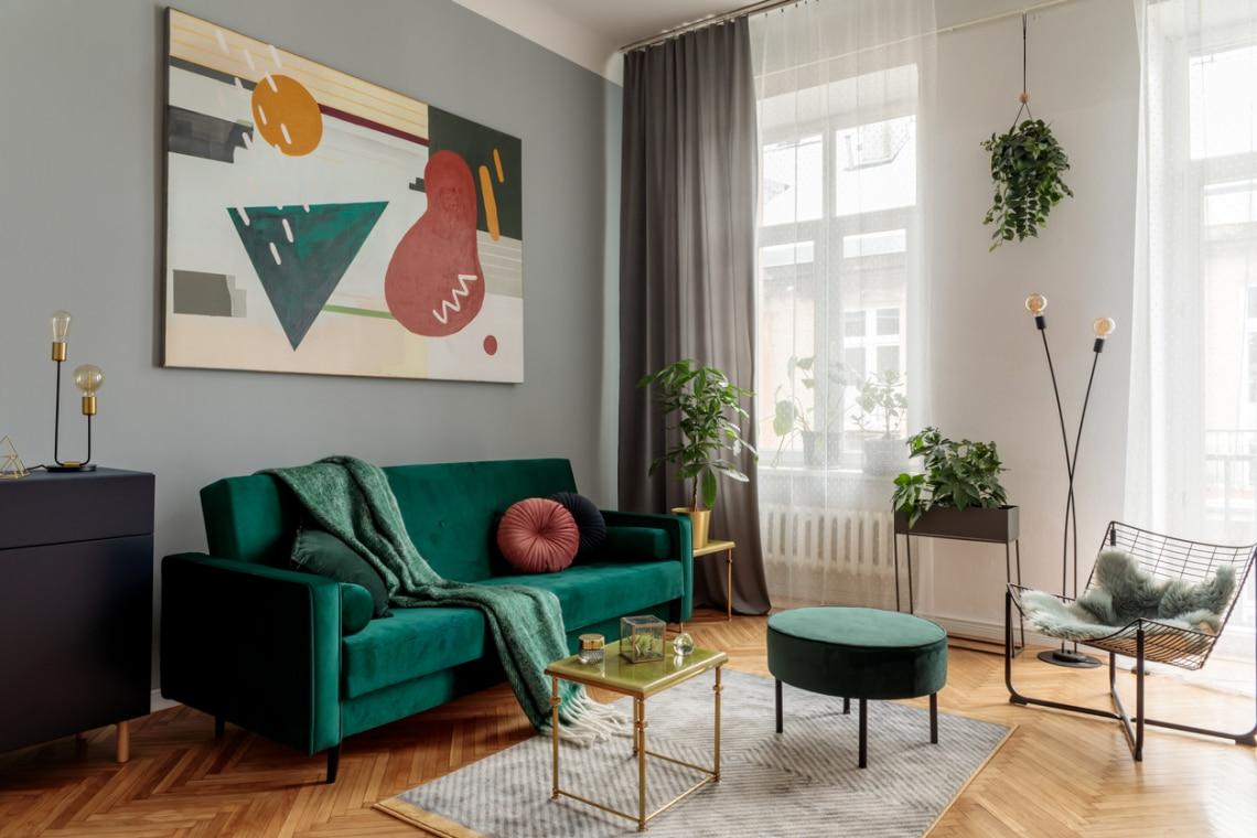 Ennyit számít egy színes kanapé a nappaliban