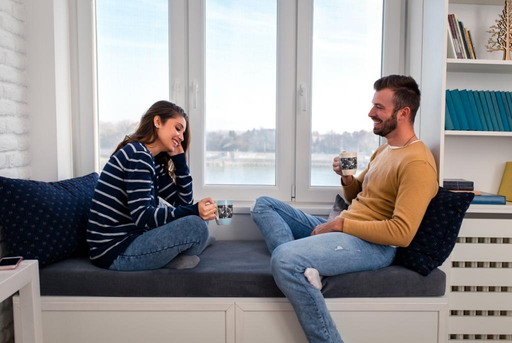 Pár beszélgetés és kávézás