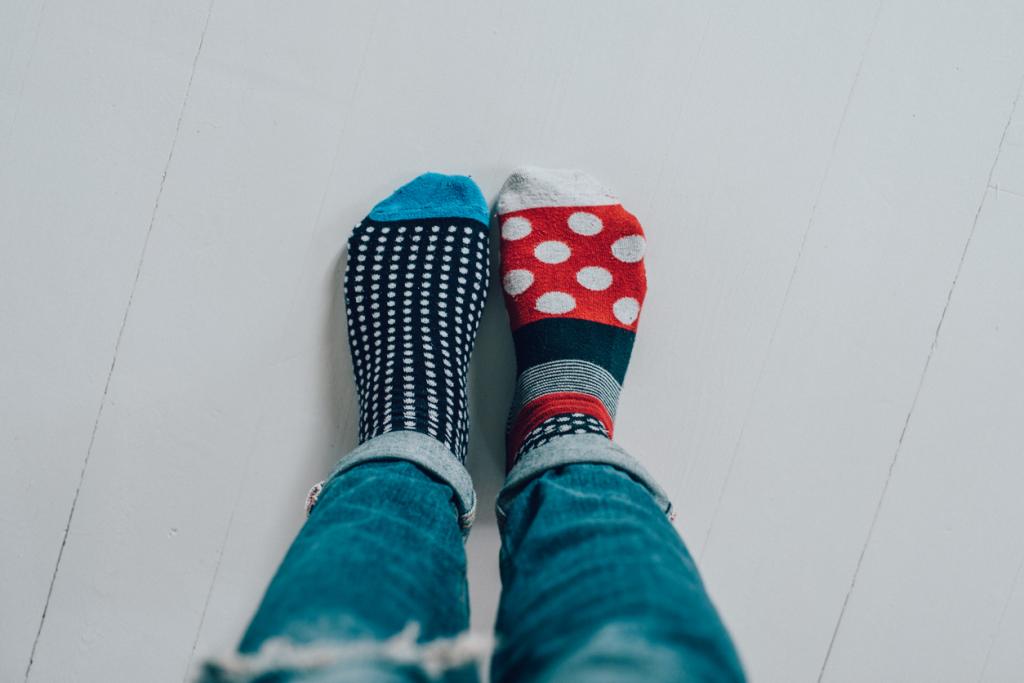 Fél pár zoknik
