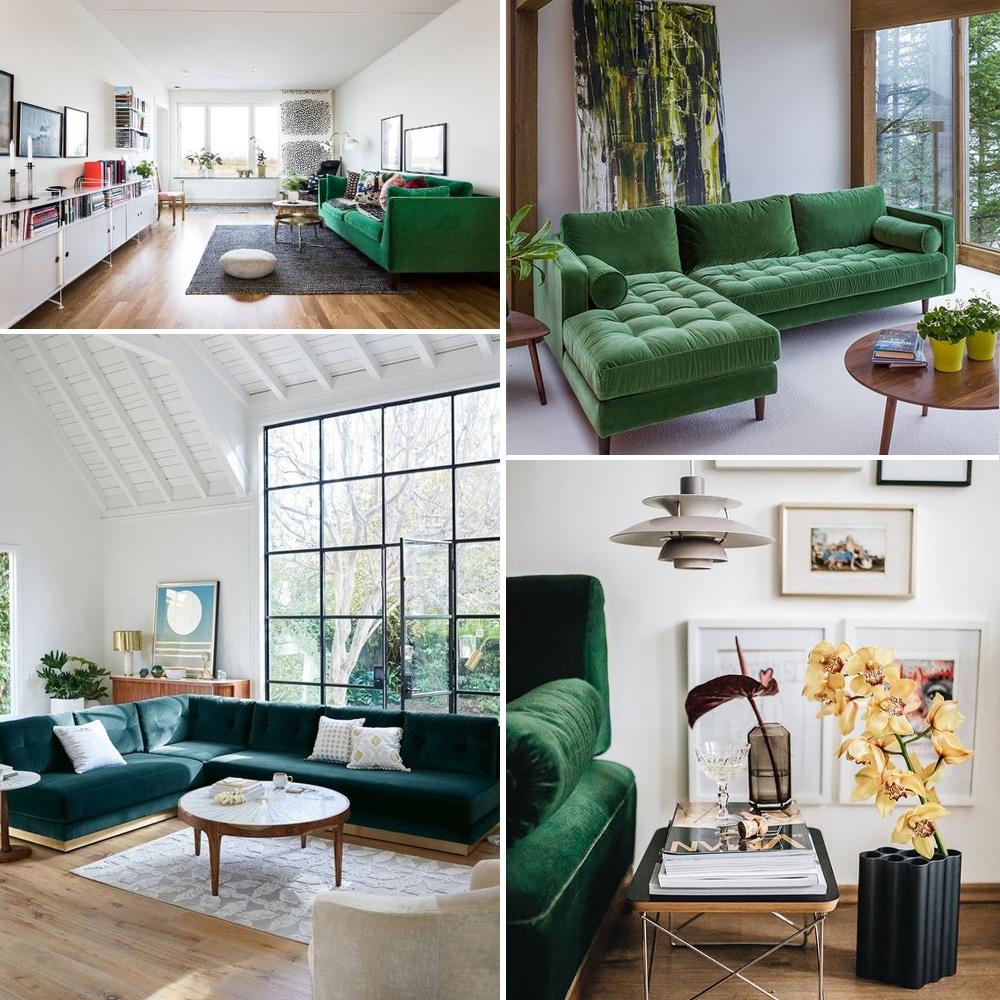 Zöld kanapé