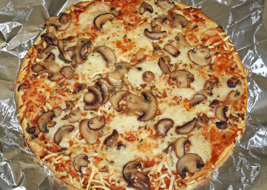 Aluminium fóliában pizza