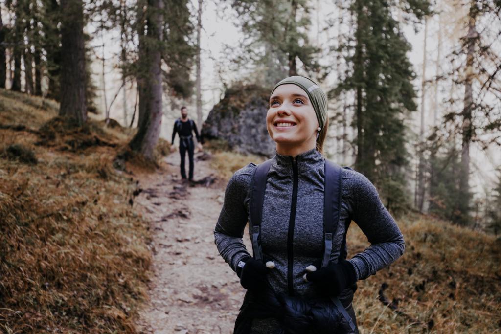 Túrázás erdőben