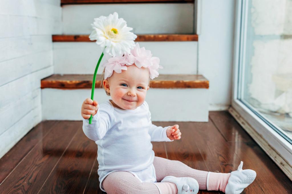 Tavaszi babafotó