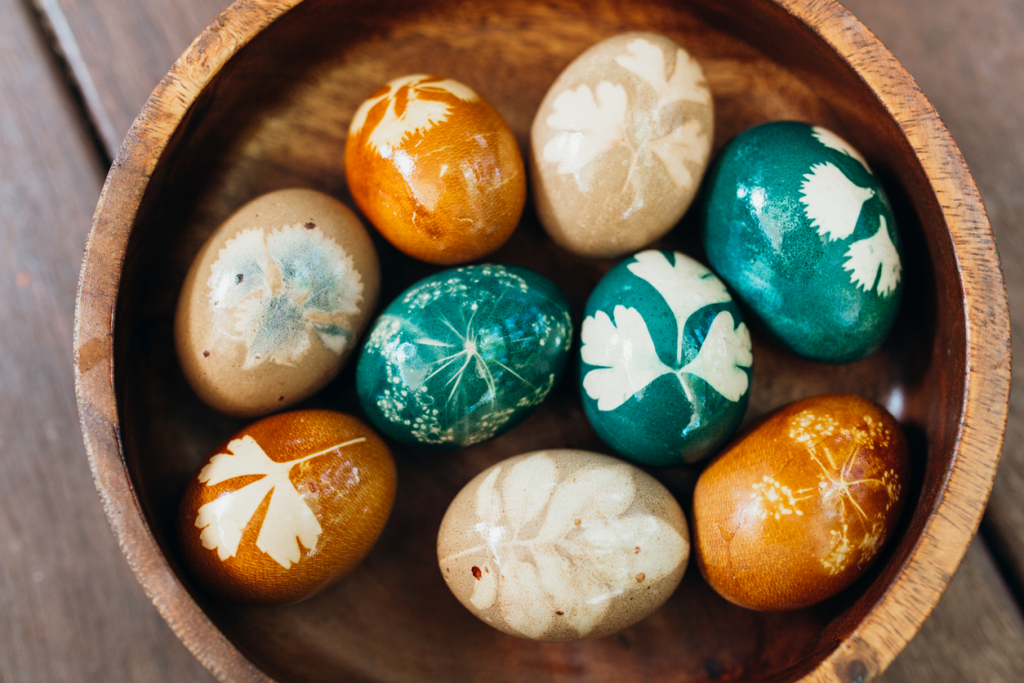 Természetes festett tojások