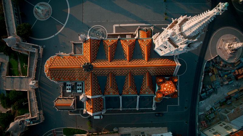 Mátyás templom felülnézetből