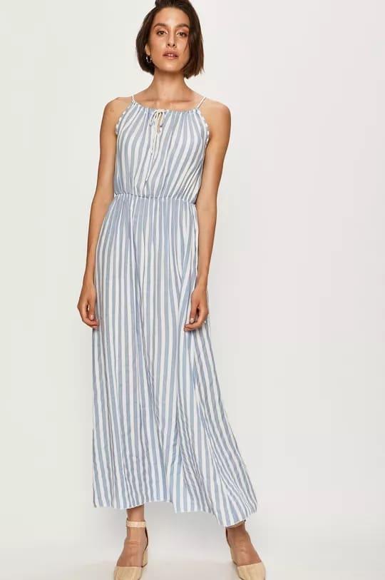 Kék csíkos nyári ruha