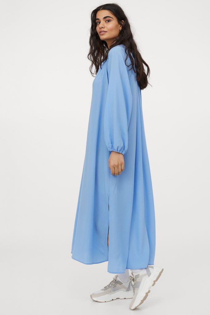Bő kék ruha