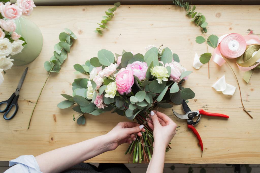 Menyasszonyi csokor készítése