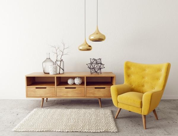 Mutatunk két bútort, amely megtalálható egy trendi nappaliban