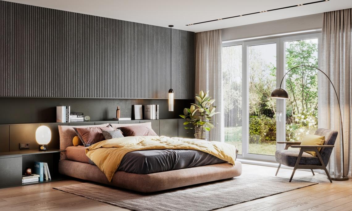 Titokzatos luxus: éjsötét hálószobák az egyediség jegyében