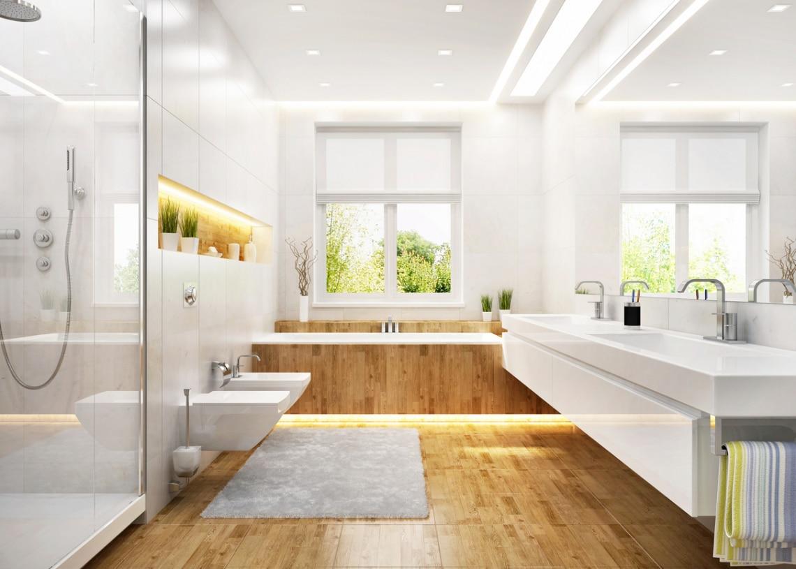 Letisztult és modern: faborítás a fürdőszobákban – Padlón és falon is!