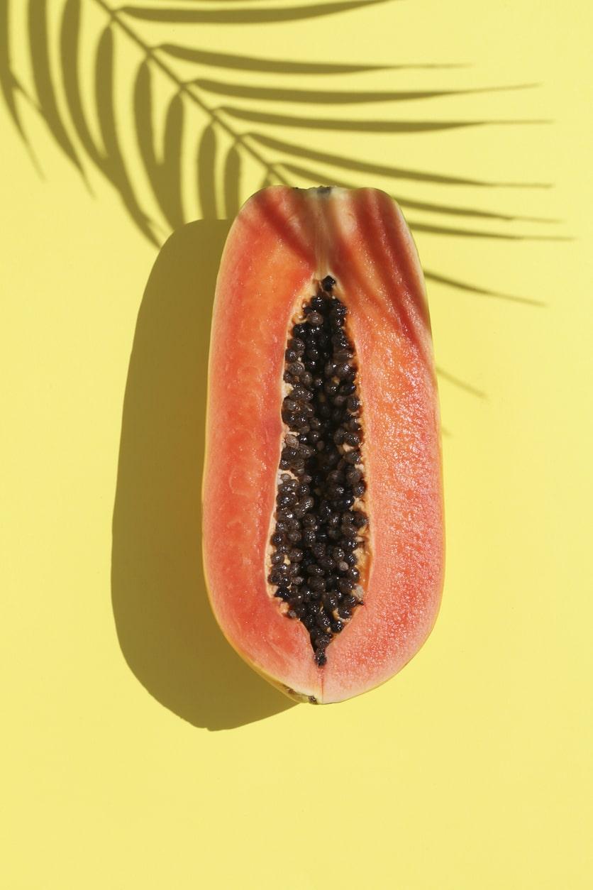 Éretlen papaya